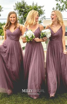 A-Line Spaghetti Straps V Neck Floor-Length Light Purple Tulle Bridesmaid Dress Long Bridesmaid Dress, V Neck Prom Dresses, Bridesmaid Dress A-Line, Bridesmaid Dresses, Sleeveless Bridesmaid Dress Bridesmaid Dresses 2018 Light Purple Bridesmaid Dresses, Bridesmaid Dresses Online, Purple Dress, Prom Dresses, Long Dresses, Dress Prom, Bridesmaid Outfit, Mermaid Dresses, Formal Dresses