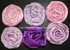 Ribbon flowers Wreath Making, Heirloom Sewing, Flower Tutorial, How To Make Wreaths, So Little Time, Fabric Flowers, Ribbons, I Card, Fabric Crafts