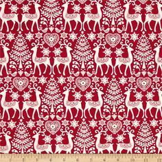 Scandi 3 Reindeer   Red from @fabricdotcom  Designed by The Henley Studio for Makower/Andover, this holiday inspired cotton print is perfect for quilting, apparel and home decor accents.  Colors include white and red.
