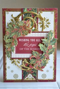 Anna Griffin Christmas Cards | Anna Griffin paper - new Christmas collection - Yuletide Greetings