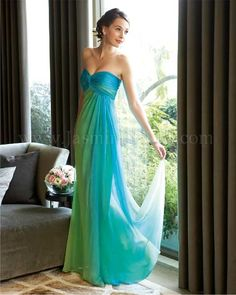 My future Bridesmaid's dresses! Blue and green!