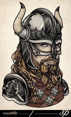 tattoo-viking-horned-helmet.jpg (487×798)
