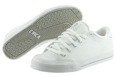 4daa626ea7 Circa Lopez 50 AL50-WGY White Leather Skateboarding Shoes Medium (D M) Mens  Adidas