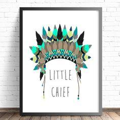Nursery Print | Kids Bedroom Wall Art | Tribal Prints | Headdress Print | Little…