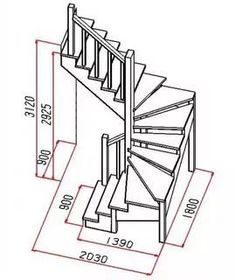 standards of wooden stairs: 12 thousand images . Home Stairs Design, Interior Stairs, House Design, Design Design, Tiny House Stairs, Attic Stairs, Escalier Art, Stair Plan, Building Stairs
