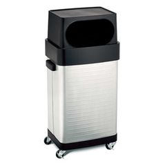 Commercial Rolling Trash Can Large 17 Gallon Garbage Bin Stainless Steel Kitchen