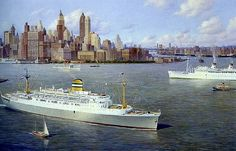 Holland America Line, Shore Excursions, Google Images, New York Skyline, Ocean, Water, Travel, Painting, Cruise Ships