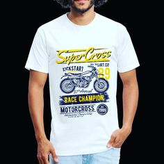 SuperCross - Fitted Cotton/Poly T-Shirt by Next Level 🥰 Funny, Cotton, Mens Tops, T Shirt, Fashion, Supreme T Shirt, Moda, Tee Shirt, Fashion Styles