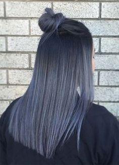Granny Silver/ Grey Hair Color Ideas: Smoky Grey Straight Hair