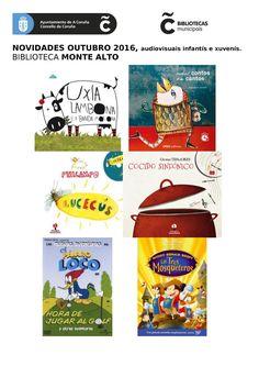 Novos audiovisuais do mes de outubro na sala infantil da biblioteca Monte Alto.