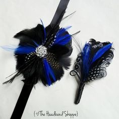 COLWELL - Feather Wrist Corsage and Matching Boutonniere Set - Perfect for Homecoming or Prom Special Events