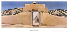 Another Church, Hernandez, New Mexico by Georgia O'Keeffe art print