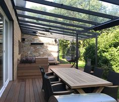 Door Protection, Pergola Attached To House, My House, Gazebo, Garden Design, Sweet Home, Deck, Home And Garden, Backyard