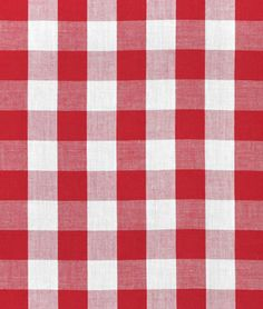 Red Gingham Fabric - 1