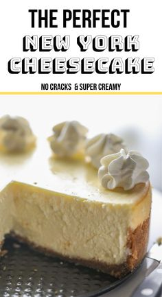 Literally the best cheesecake recipe ever. Seven simple ingredients. No water bath. No cracking ever. The only recipe you'll ever need! Cheesecake Deserts, Best Cheesecake, Homemade Cheesecake, Easy Cheesecake Recipes, Best Dessert Recipes, Just Desserts, Delicious Desserts, Pineapple Cheesecake, New York Style Cheesecake