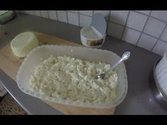 YouTube How To Make Cheese, Food To Make, Food Substitutions, Homemade Cheese, Greek Recipes, Different Recipes, Food Hacks, Feta, Yogurt