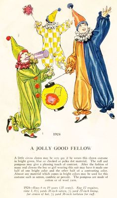 1920's Masquerade Patterns - For the Kids - A Jolly Good Fellow