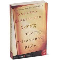books, barbara kingsolv, poisonwood bibl, favorit book, book clubs, bible, africa, writer, novel