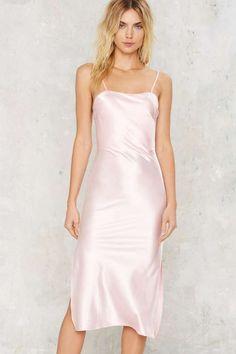 Dyspnea Gold Digger Pom Pom Slip Dress