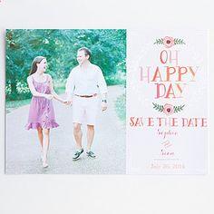 Oh Happy Day Photo Save the Date Free Printable   AllFreeDIYWeddings.com