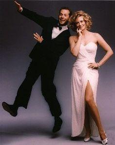 Moonlighting (tv) Bruce Willis and Cybill Shepherd