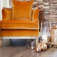 Lovin' the autumnal orange & copper tones today. Like the look? Shop the shoot (link in bio) #autumn #autumnhome #armchairs #copperhomeware
