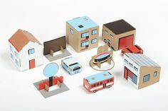 Paper Town Blauw | Paper Fun | Gras onder je voeten