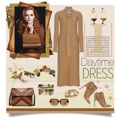 Warm Up: Long Sleeved Dresses by affton on Polyvore featuring Chloé, Valentino, Isabella Fiore, Samantha Wills, Erickson Beamon, The Row, valentino, chloe, contestentry and longsleevedress