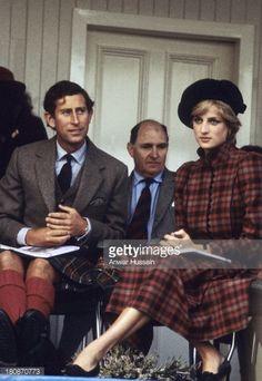 News Photo : Princess Diana, Princess of Wales, wearing a...