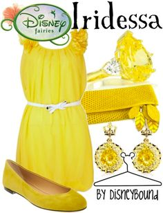 Disney Fairies: Iridessa inspired outfit by Disneybound at:  http://disneybound.tumblr.com/