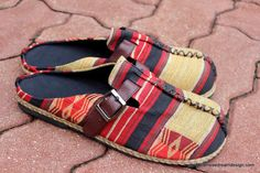 Tribal Ethnic Naga Vegan Mens Shoes, comfortable  Loafers by Siamese Dream Design,