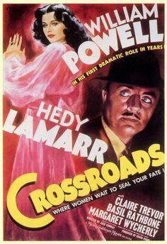Movie Poster Art - Crossroads   starring Hedy Lamarr