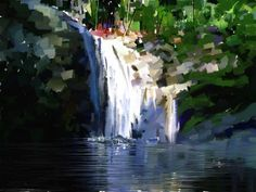 waterfall painting - Google Search