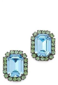 shopstyle.com: Kenneth jay lane Gem Oversized Stud Earrings