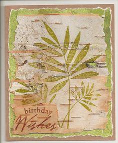 Birch bark card by quilterlin, via Flickr