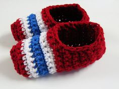 Pantoufles Canadiens Montréa au crochetl