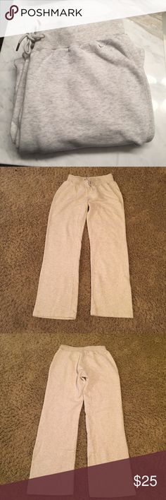 Beige Nike sweat pants For my reference only item number 41. Size medium. Color is a beige / off white. Worn a couple times and in great condition. No flaws. Smoke free home. Same or next day shipping. Brand is Nike. Nike Pants