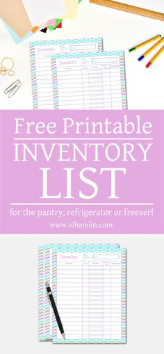 Kitchen Inventory Printables  Free Printables Freezer And Pantry