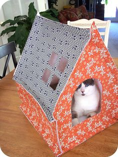 DIY cat house tutorial