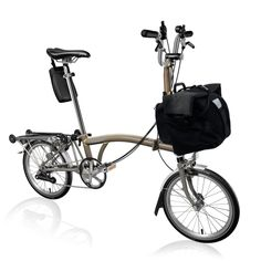 My dream Brompton: H-Type, 6-speed - 12%, steel/titanium frame, rack with EZ Wheels, raw lacquer finish. YEs, please!
