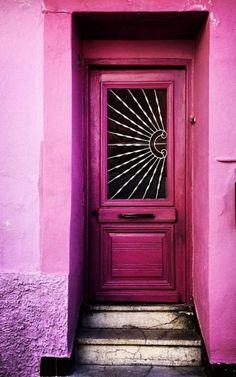 stunning pink door