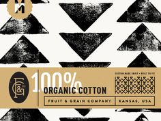Fruit & Grain Clothing Label by Steve Wolf