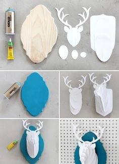 DIY Paper Deer Bust