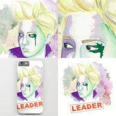 the best leader #suho #exo #kpop #watercolor #society6 by Katka Tekel