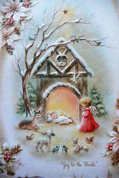 VINTAGE CHRISTMAS GREETING CARDS SANTA DEER SNOW  SNOWFLAKES  RELIGIOUS UNUSED