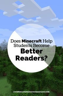 Creativity In the Common Core Classroom: Does Minecraft Help Students Become Better Readers? Guided Reading, Teaching Reading, Teaching Ideas, Free Reading, Teaching Activities, Reading Resources, Reading Strategies, Minecraft Classroom, Minecraft Crafts