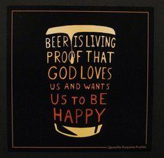Beer is living proof