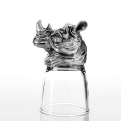 "TROVE proudly presents the ""World of Animal Head Drinking Glasses"" a collection of artistically sculpted collector glasses that stand securely on their heads."