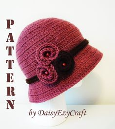 Symbol Crochet PATTERN & Colorful step by step images - PDF format - Crochet Bucket Cloche