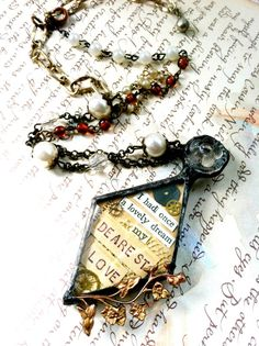 Soldered Collage Art Jewelry Collage Art Assemblage by Mystarrrs